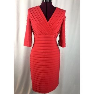 NWT Adrianna Papell Classic Red Cocktail Dress